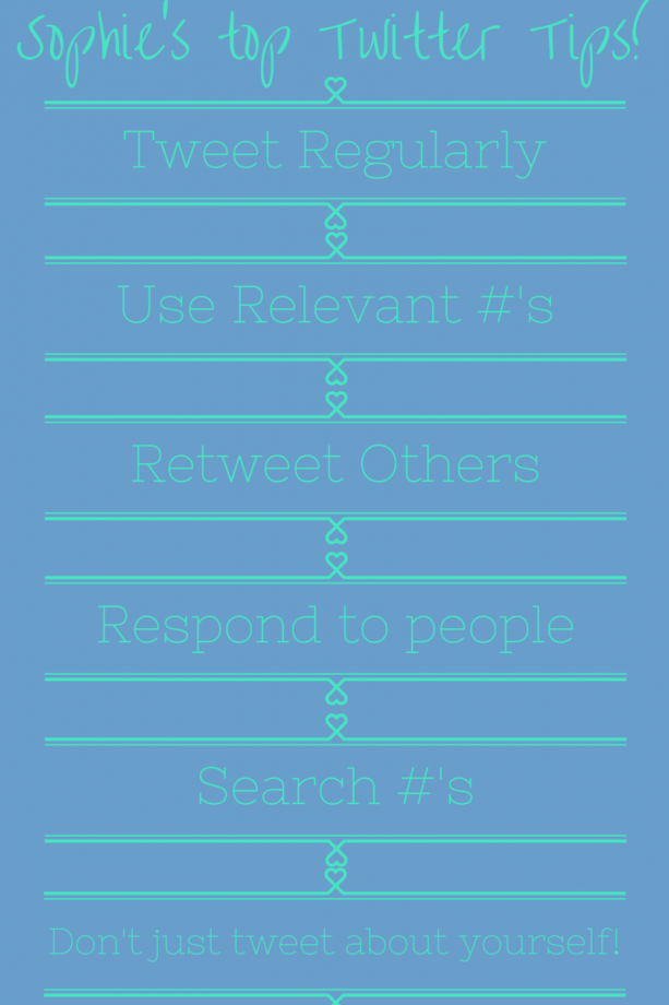 Sophie's twitter tips graphic