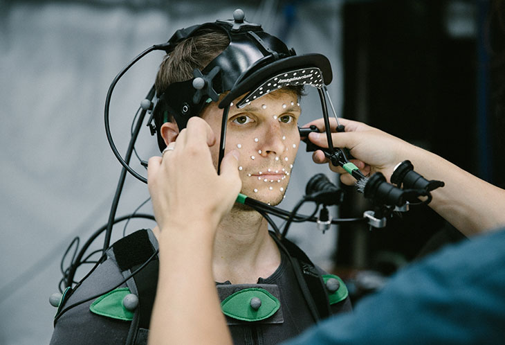 Person fitting with technological gear