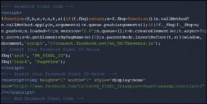 Example of code with google tag manager