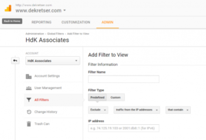 Insight into how the HdK Google Analytics looks